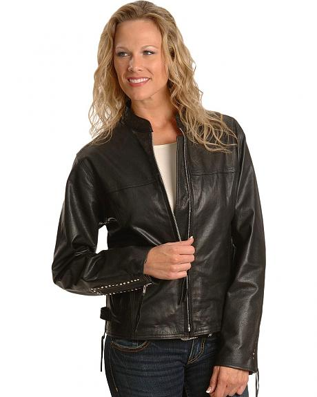 Milwaukee Studded Leather Motorcycle Jacket
