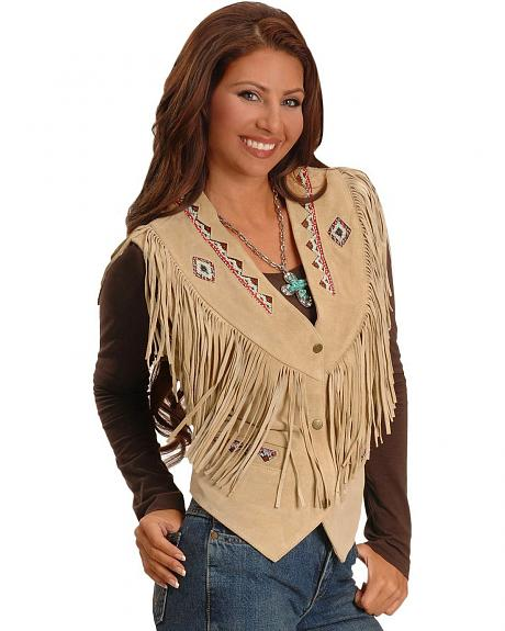 Wolf Fringed Suede Leather Vest