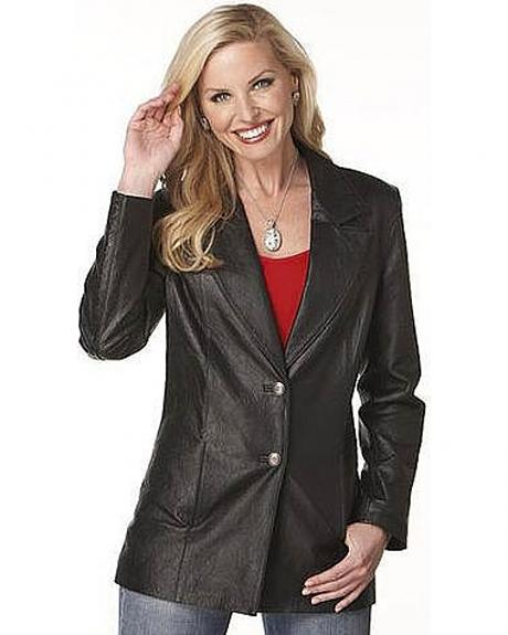 Cripple Creek Women's Textured Boar Nappa Leather Blazer