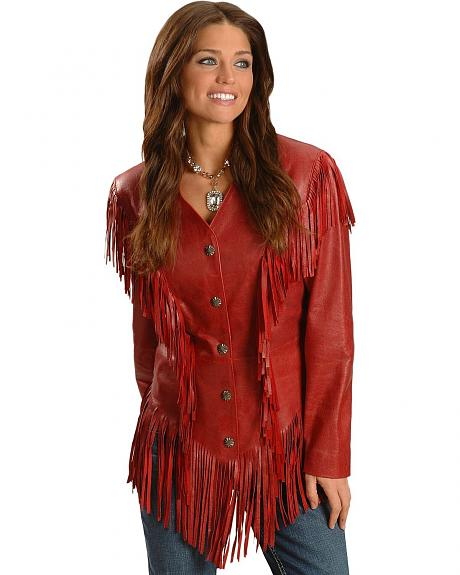 Cripple Creek Princess Fringed Leather Jacket