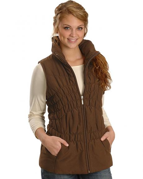 Jane Ashley Women's Poly Vest w/ Tucking
