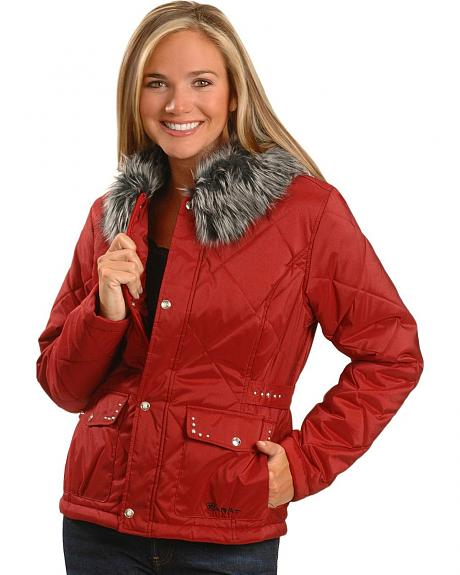 Ariat Tipton Quilted Faux Fur Jacket