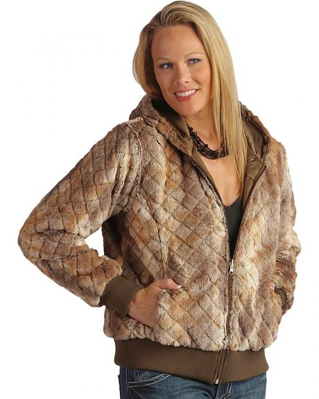 Ariat Faux Animal Fur Quilted Reversible Jacket