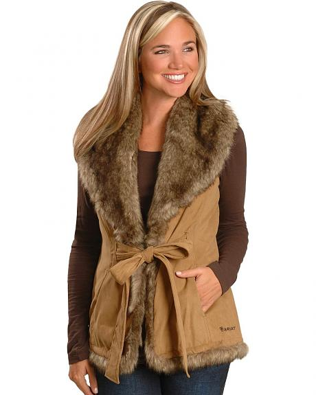 Ariat Faux Fur Wrap Vest