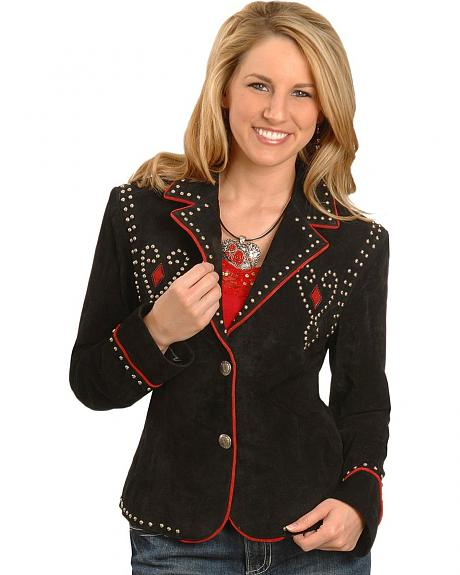 Scullly Studded Suede Jacket