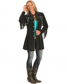 Scully Beaded Fringe Coat