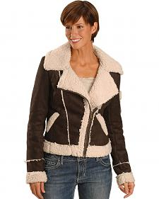 Cripple Creek Asymmetric Sherpa Lined Bomber Jacket