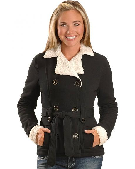 Sherpa Accent Belted Coat