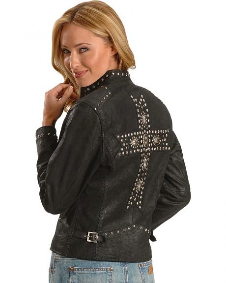Cripple Creek Cross Back Studded Jacket