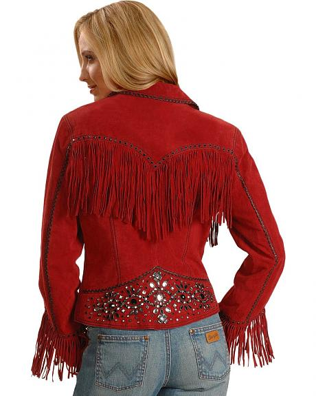 Cripple Creek Studded Fringe Jacket