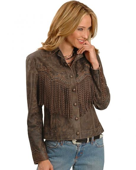 Cripple Creek Twisted Fringe Distressed Jacket