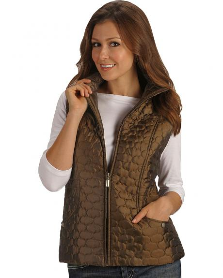 Jane Ashley Metallic Quilted Vest