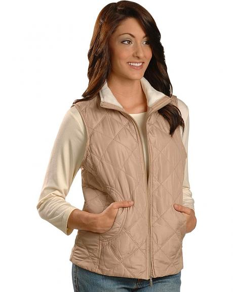 Quilted Sherpa Lined Collar Vest