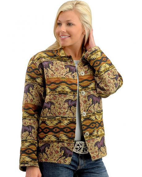 Red Ranch Aztec Horse Tapestry Jacket