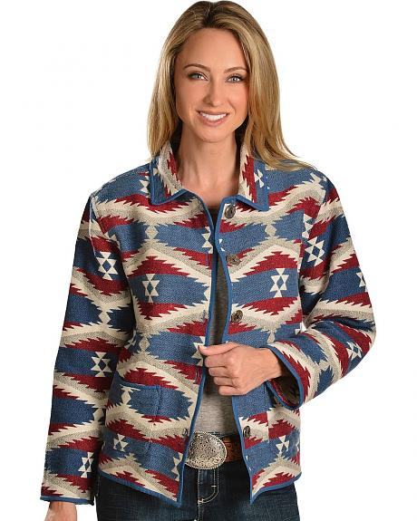 Red Ranch Aztec Tapestry Jacket