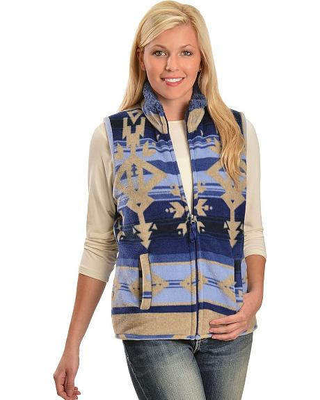 Jane Ashley Sherpa Lined Southwest Vest