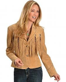 Scully Concho & Fringe Suede Leather Jacket