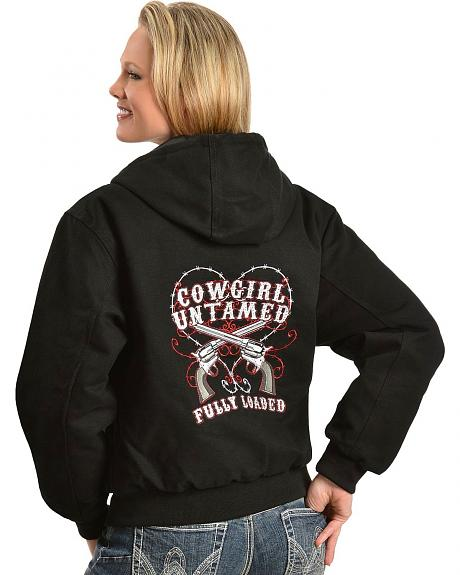 Cowgirl Hardware Fully Loaded Canvas Jacket