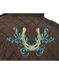 Cowgirl Hardware Horseshoe Quilted Vest at Sheplers