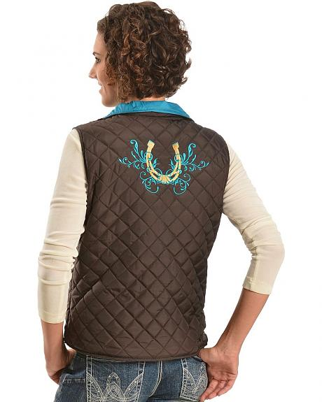 Cowgirl Hardware Horseshoe Quilted Vest