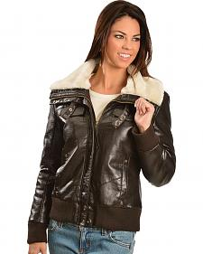 Cripple Creek Faux Leather Bomber Jacket