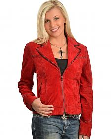 Cripple Creek Red Leather Jacket