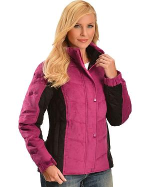 Outback Trading Co. Burlington Faux Suede Down Jacket