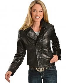 Scully Embossed Leather Jacket
