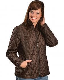 Jane Ashley Quilted Poly Jacket