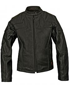 Milwaukee Motorcycle Studded Cross Scooter Leather Jacket - Reg