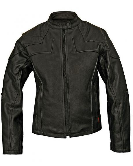 Milwaukee Studded Cross Scooter Leather Jacket - XL