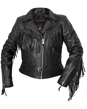 Interstate Leather Fringe Riding Jacket - Reg