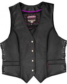 Interstate Leather Braided Vest - XL