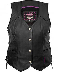 Interstate Leather Side Laced Vest - Reg