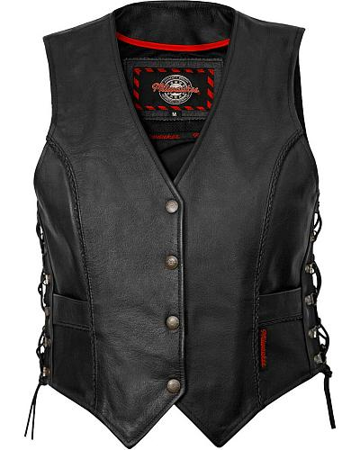 Milwaukee Deuce Leather Vest XL Western & Country M10069 XL
