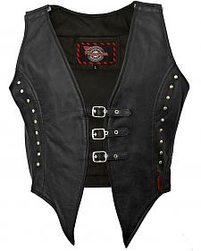 Milwaukee Studded Illusion Leather Vest