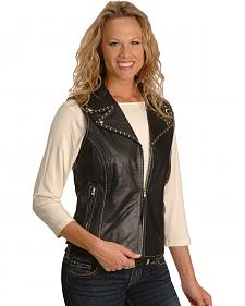Milwaukee Studded Leather Vest - XL