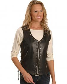 Milwaukee Motorcycle Grommet & Stud Leather Vest - XL