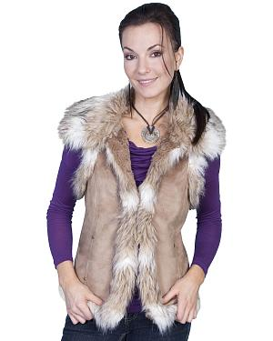 Scully Faux Fur Shoulder & Trim Vest