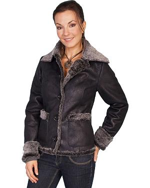 Scully Faux Fur Trim Jacket