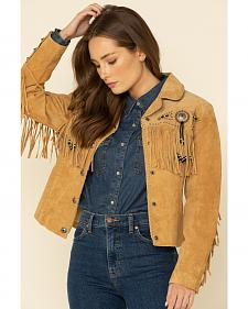 Scully Suede Fringe and Beaded Jacket