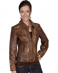Scully Two Tone Leather Jacket