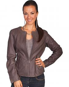 Scully Lambskin Zip Front Jacket