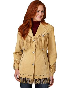Cripple Creek Suede Leather Fringe Jacket