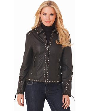 Cripple Creek Studded Leather Jacket