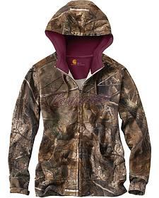 Carhartt Camo Zip Front Sweatshirt