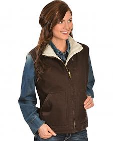 Red Ranch Chocolate Sherpa Lined Work Vest