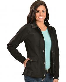 Red Ranch Women's Black Bonded Snap-Front Jacket