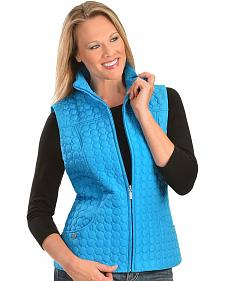 Jane Ashley Circle Quilted Poly Vest