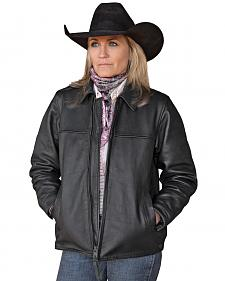 STS Ranchwear Women's Rifleman Black Leather Jacket